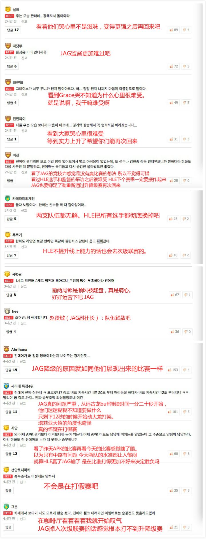 韩国网友评JAG降级:有人惋惜有人质疑